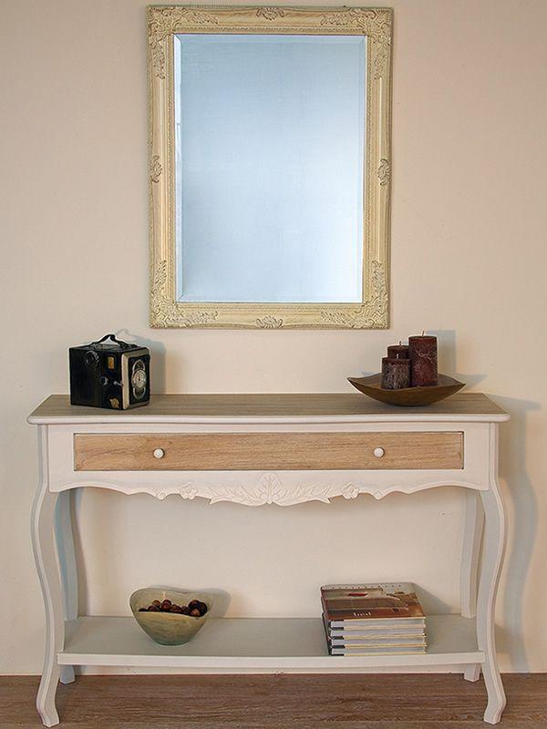 clemente console shabby chic en bois avec tiroir sediarreda. Black Bedroom Furniture Sets. Home Design Ideas