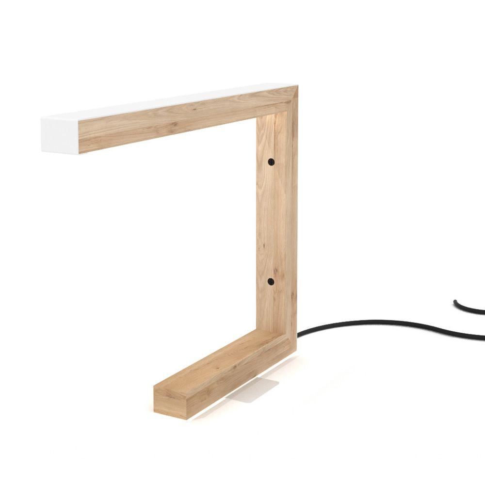 Pi lampada da tavolo universo positivo in legno e - Lampada da tavolo legno ...