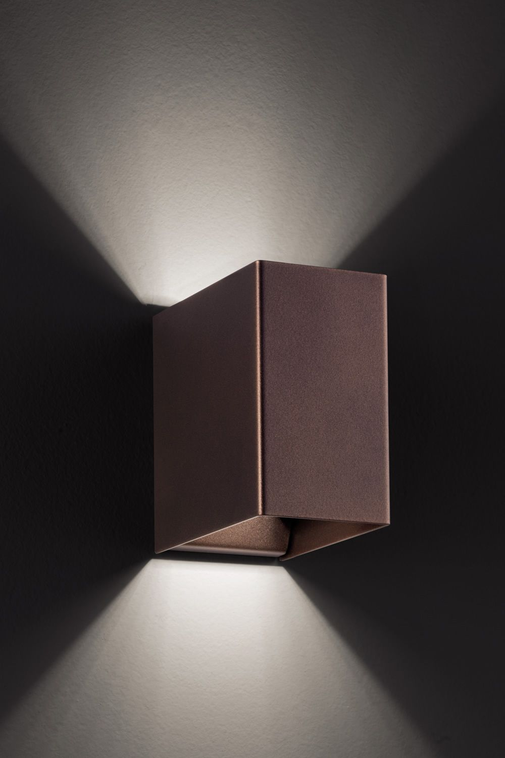 Laser cube designer wall lamp in metal with led light available laser cube wall lamp design in coppery bronze metal s aloadofball Image collections