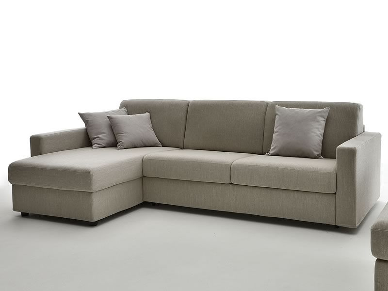 Leo 2 or 3 xl seaters sofa bed with chaise longue and for Sofa cama chaise longue piel