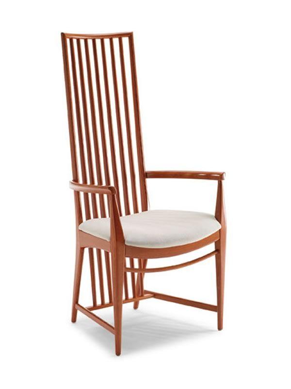 Mito b sedia in legno con braccioli seduta in ecopelle o microfibra - Sedia imbottita con braccioli ...