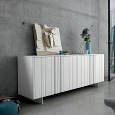Design - Dall'Agnese sideboard made of metal and veneered wood, different colours available, four doors