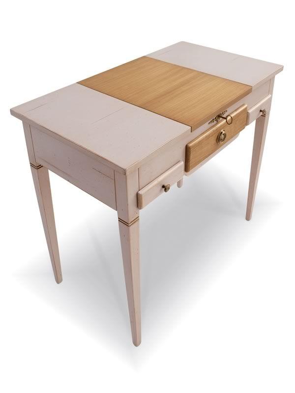 Lili 1495 meuble coiffeuse classique tonin casa en bois for Coiffeuse meuble en anglais