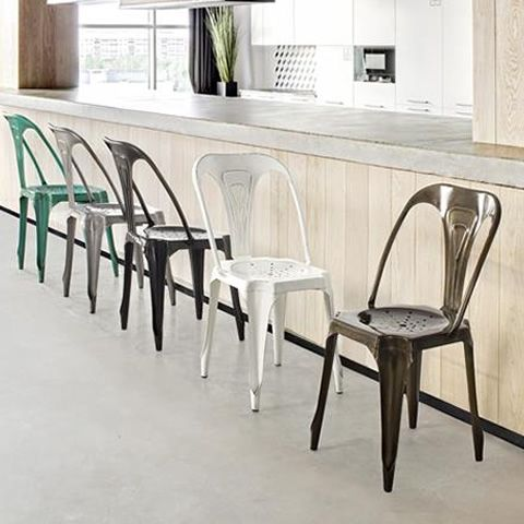 Cape town sedia urban style in metallo disponibile in for Sedie industrial style