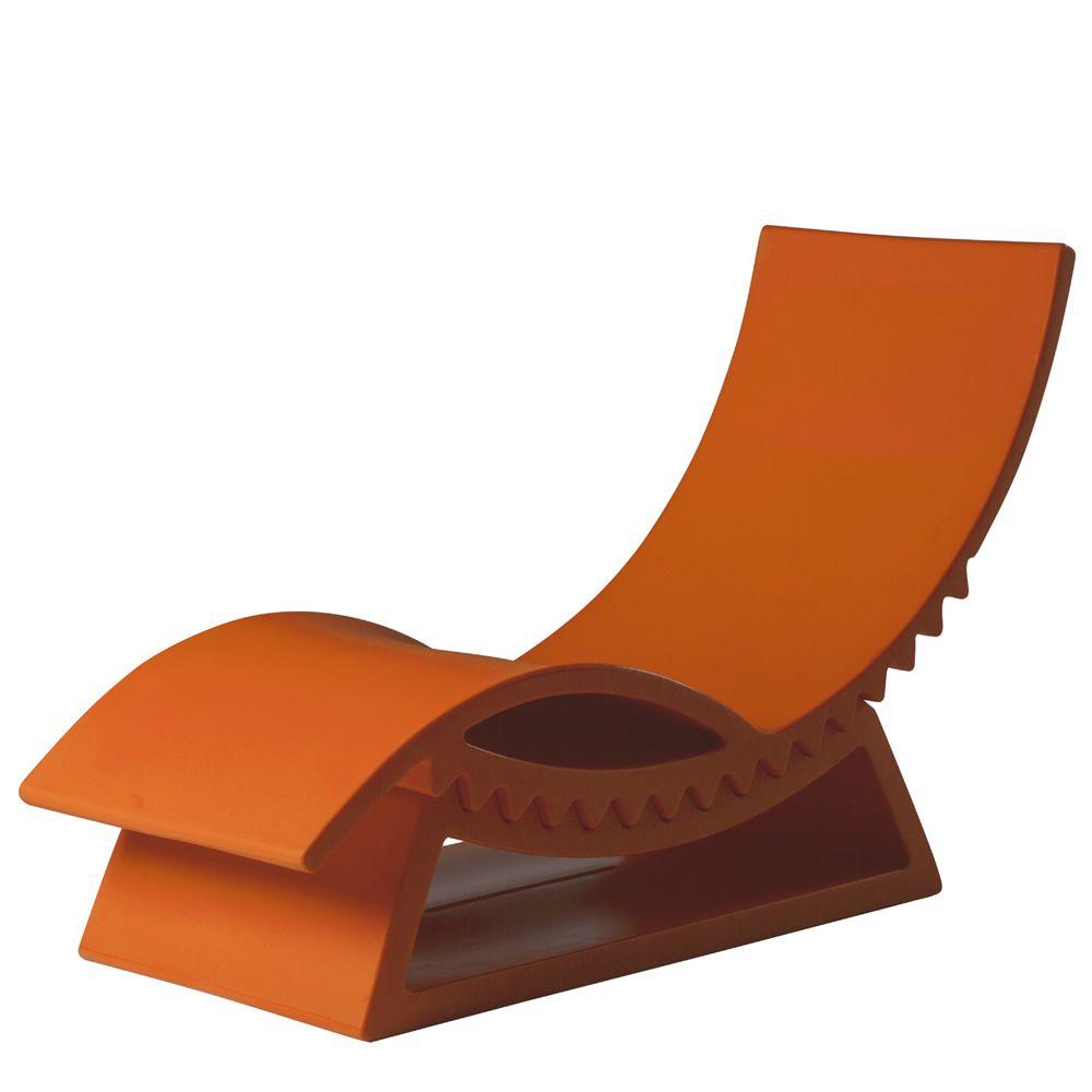 Tic tac chaise longue slide en poly thyl ne avec base d for Chaise longue originale