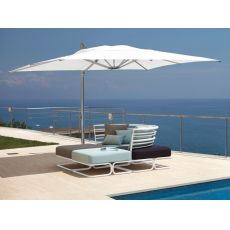 Shade - Garden umbrella with lateral armrest, available in several colours