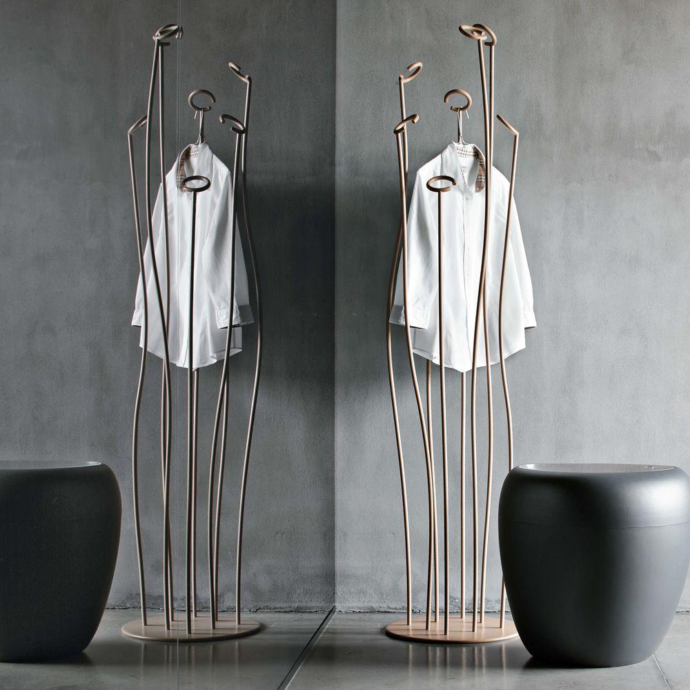 Alga 7416 - Appendiabiti di design Tonin Casa in metallo laccato, diversi col...