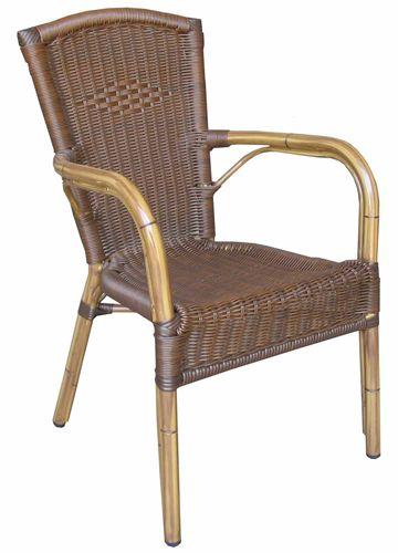 a59 fauteuil de jardin en aluminium et imitation rotin empilable sediarreda. Black Bedroom Furniture Sets. Home Design Ideas