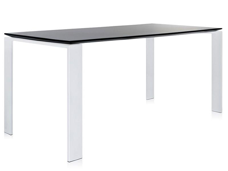 Four soft touch design tisch kartell aus stahl mit platte aus