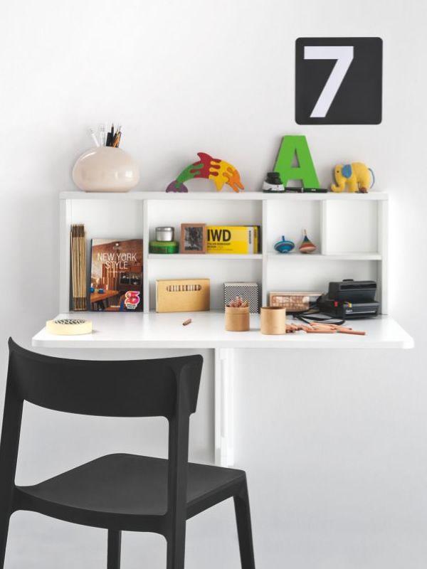 Cs4061 spacebox tavolo pieghevole a muro in nobilitato bianco ottico opaco - Tavolo da muro pieghevole ...