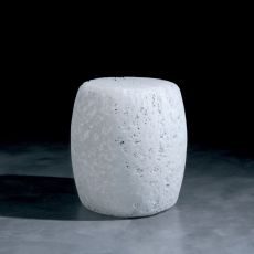 Satori - Pouf made of plastic material, available white or multicolour, also for garden