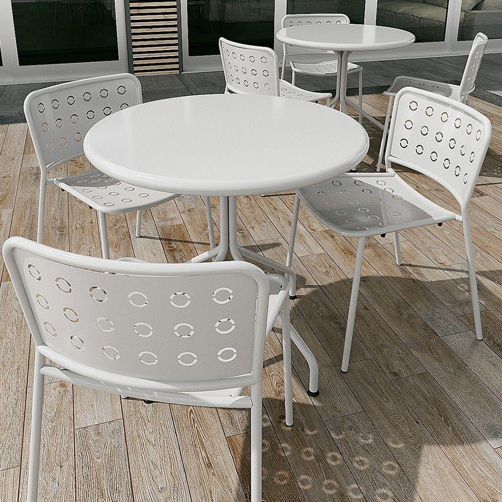 Rig75 sedia in metallo impilabile per giardino for Offerta sedie giardino
