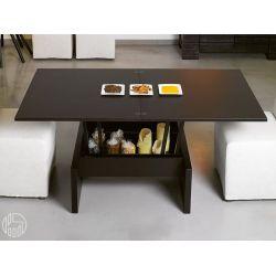 Marte - Tavolino da salotto trasformabile in tavolo da pranzo, 80 ...