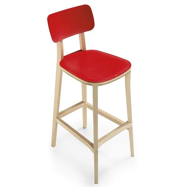 porta venezia stool pour bars et restaurants tabouret en bois diff rents rev tements et. Black Bedroom Furniture Sets. Home Design Ideas