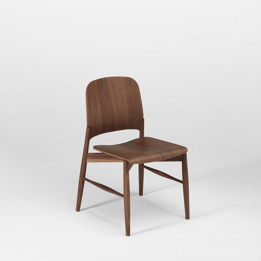 Lipp sedia di design in multistrato impiallacciato impilabile - Sedia di design ...
