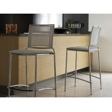 Fly SG - Midj stackable metal stool, net seat, height 66 cm