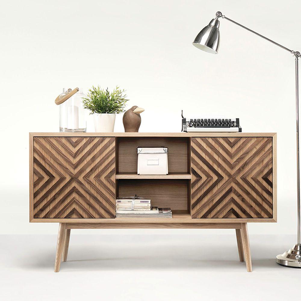 Casanova mobile da soggiorno in legno con ante scorrevoli mensole e cassetti sediarreda - Mobile porta tv legno ...