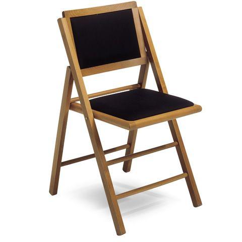 Ls4 sedia pieghevole in legno seduta e schienale - Sedia pieghevole imbottita ...
