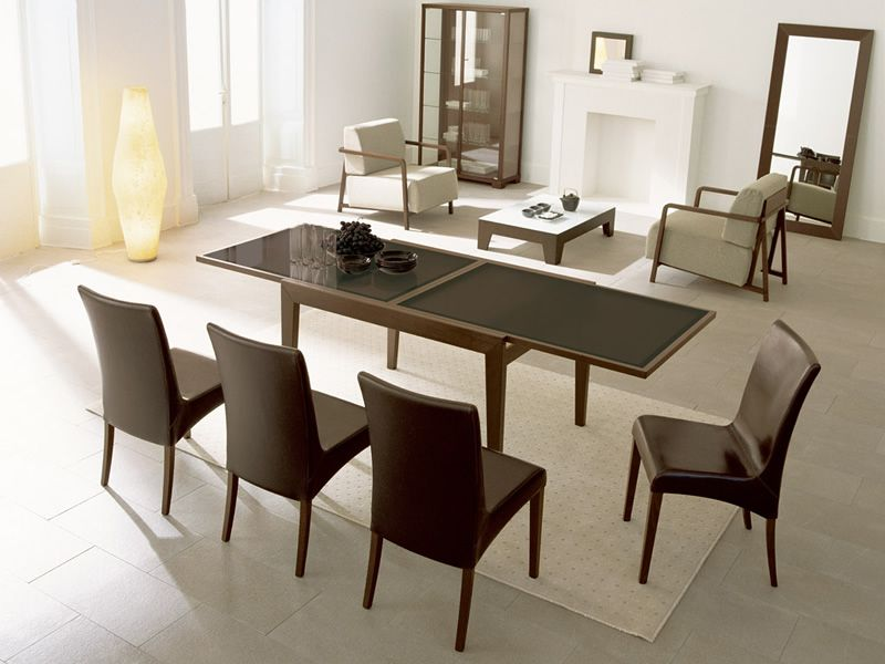 Cs353 bon ton tavolo allungabile calligaris in legno for Calligaris tavolo vetro