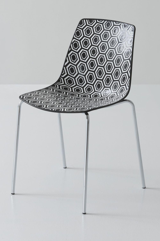 alhambra chaise design en m tal et technopolym re empilable avec ou sans accoudoirs en. Black Bedroom Furniture Sets. Home Design Ideas