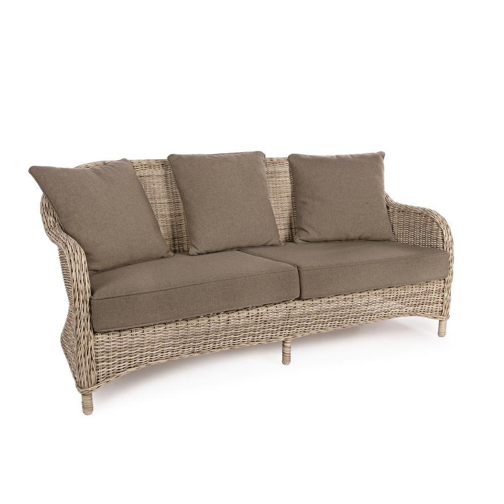 Loira divano da giardino in rattan sintetico con cuscini sfoderabili sediarreda - Divano da giardino ...