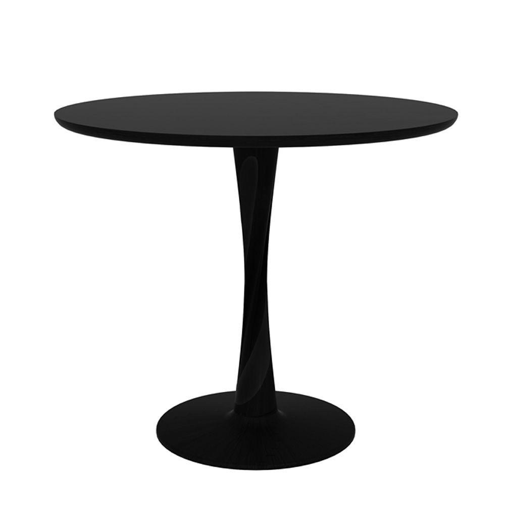 Torsion per bar e ristoranti tavolo fisso in legno per for Tavolo rotondo diametro 90