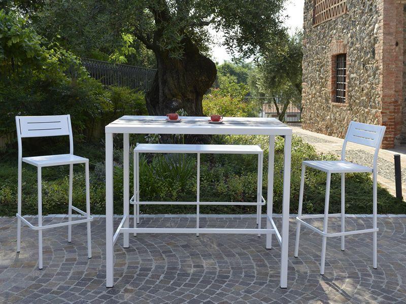 Rig h sgabello in metallo impilabile per giardino sediarreda