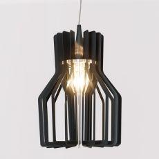 Burlesque.c - Lampada a sospensione Colico Design in metallo verniciato grigio antracite