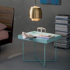 Slash - Tavolino Dall'Agnese in metallo e impiallacciato, diversi colori e misure disponibili