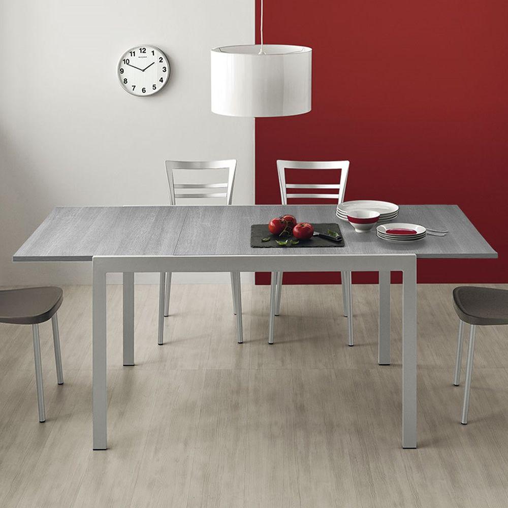 cb4742 l 120 aladino table connubia calligaris en m tal avec plateau en m lamin 120 x 85. Black Bedroom Furniture Sets. Home Design Ideas