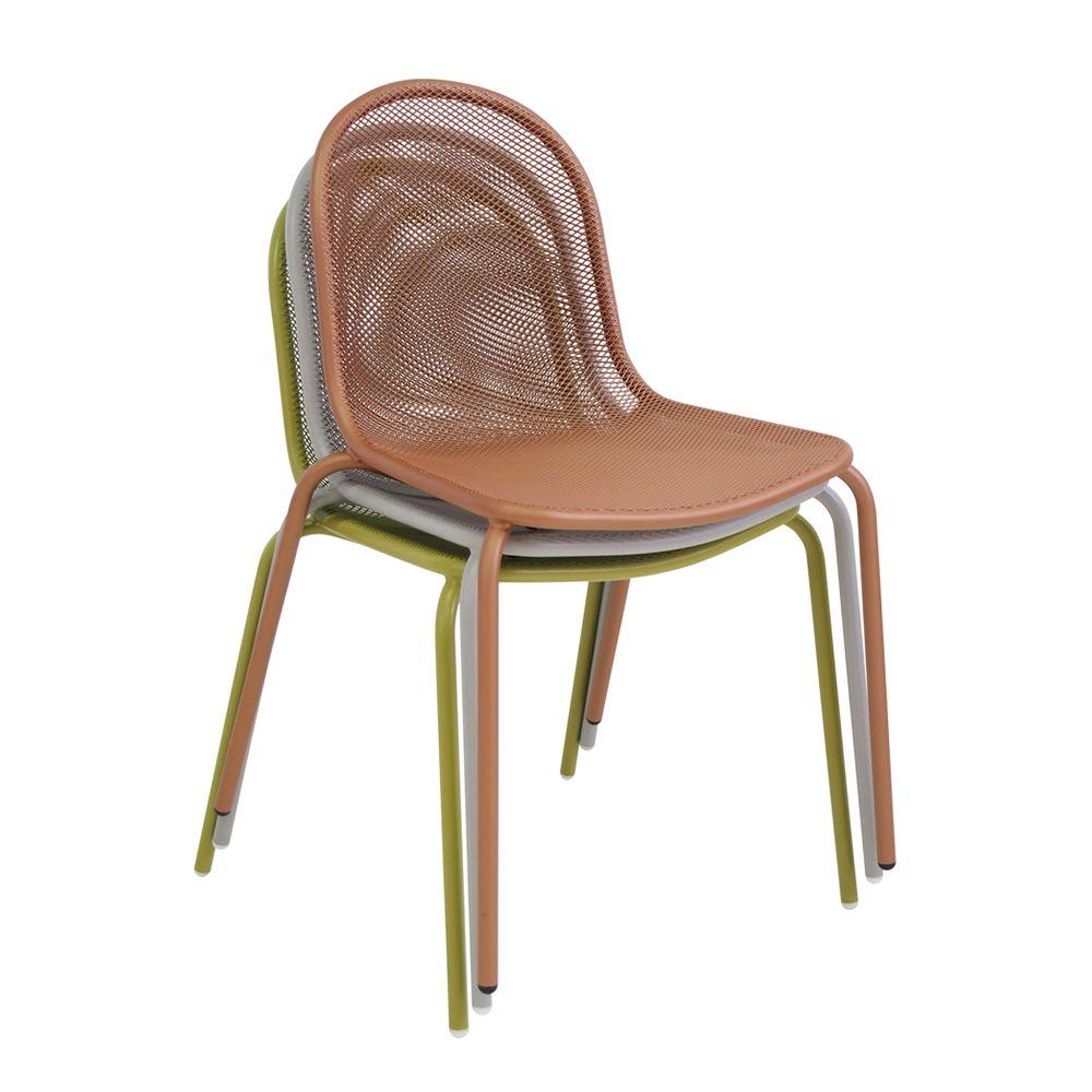 Nova 660 silla emu met lica y apilable para jard n - Silla metalica apilable ...