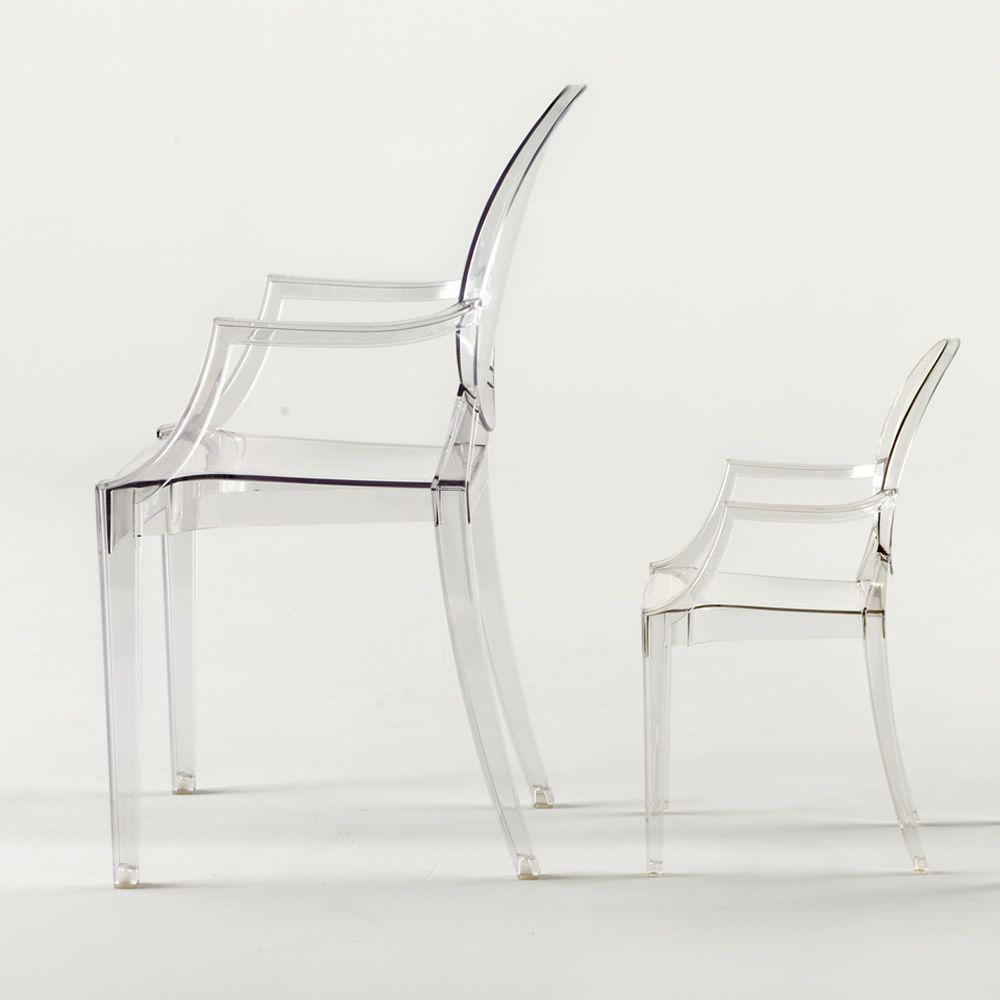 Lou lou ghost silla kartell de dise o para ni os policarbonato transparente o colorado - Silla louis ghost ...