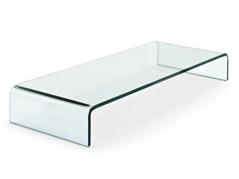 Cs5076 base porta tv in vetro trasparente - Porta televisore in vetro ...