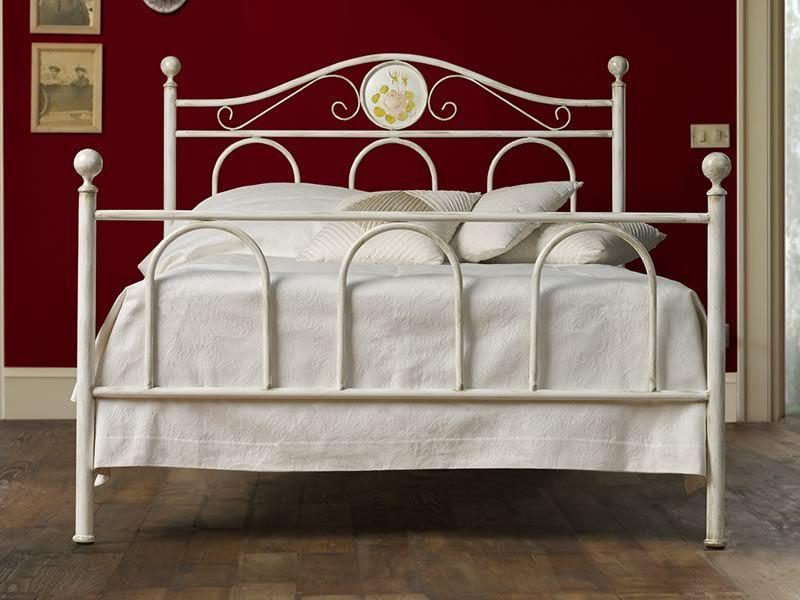 Lina cama de una plaza y media de hierro con for Cama hierro