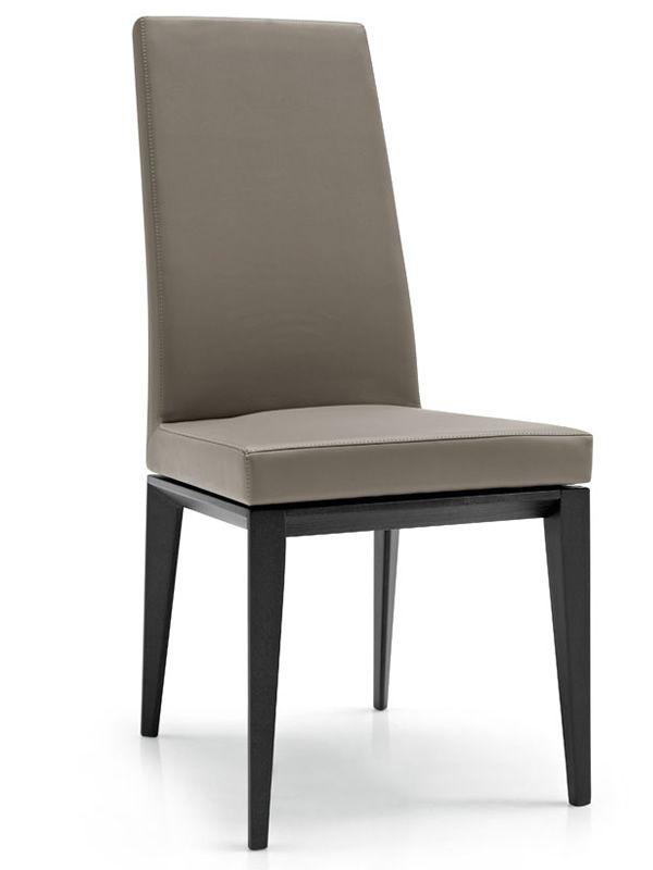 Cs1294 bess per bar e ristoranti sedia in legno rivestita in tessuto pelle o similpelle - Sedia bess calligaris ...