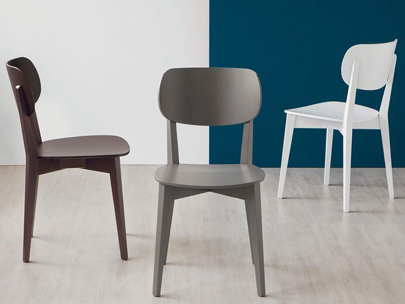 Cb1436 robinson: silla connubia   calligaris de madera con asiento ...