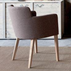 Calliste - Poltroncina moderna in legno, imbottita, disponibile in diverse finiture