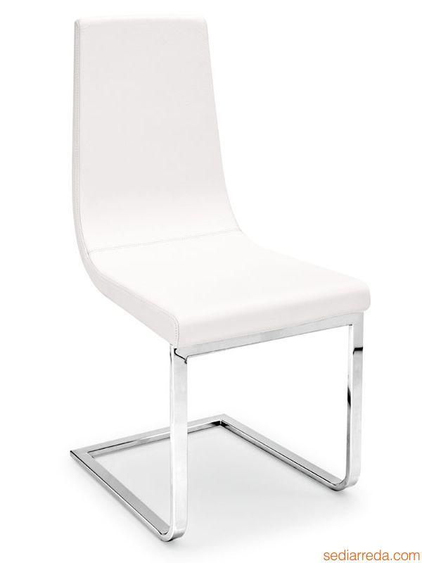cb1096 cruiser stuhl connubia calligaris aus metall mit kufengestell bezug aus stoff oder. Black Bedroom Furniture Sets. Home Design Ideas