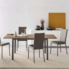 CB4742-L 110 Aladino - Connubia - Calligaris metal table with melamine top, 110 x 70 cm extendable