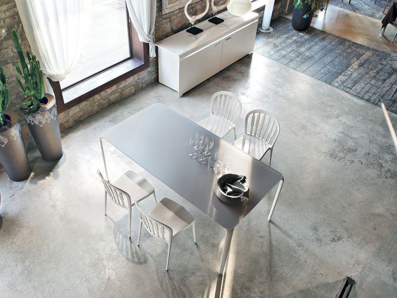 Light 8065 mesa extensible tonin casa de metal sobre de for Mesa cristal 140 x 90