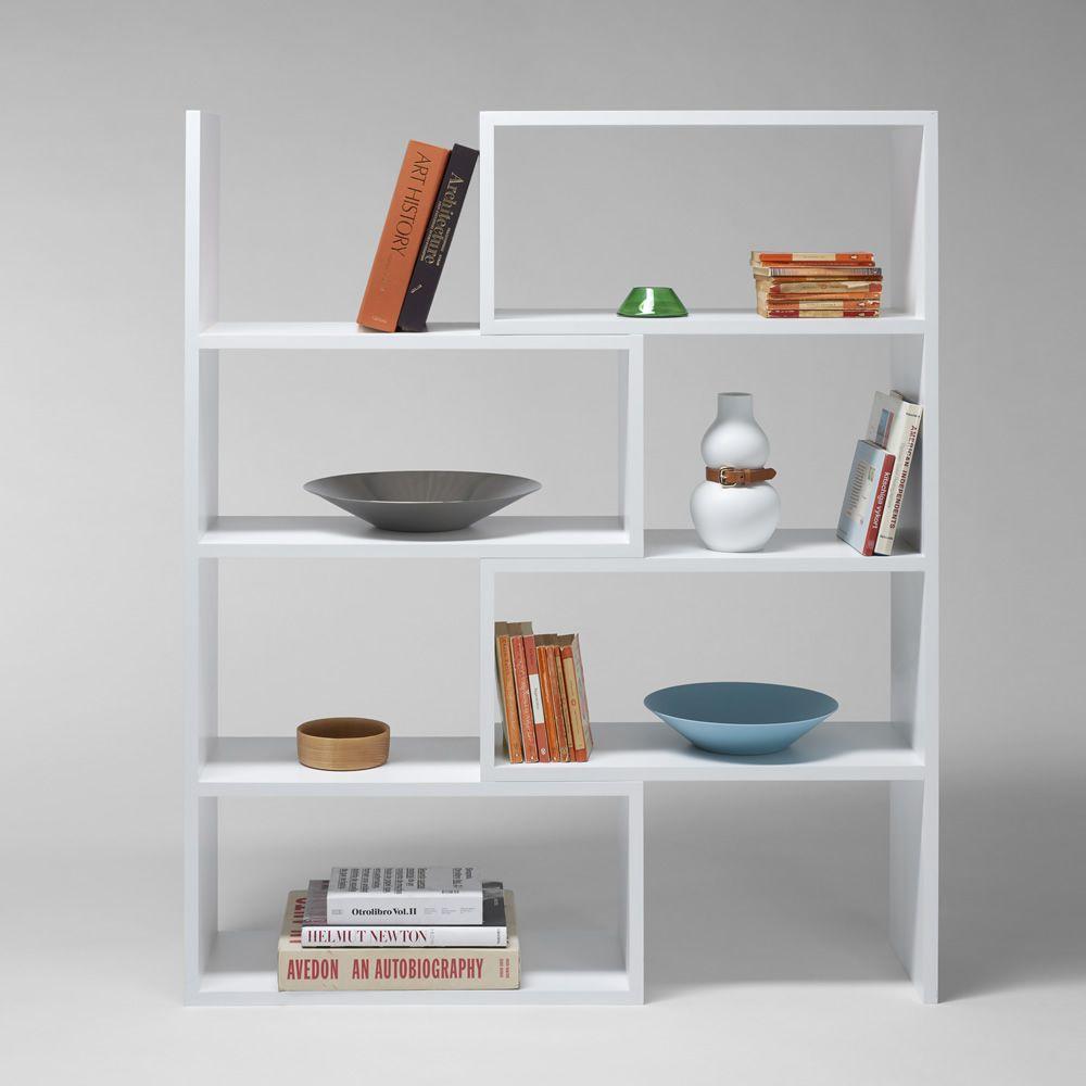 extend biblioth que extensible en mdf laqu blanc. Black Bedroom Furniture Sets. Home Design Ideas