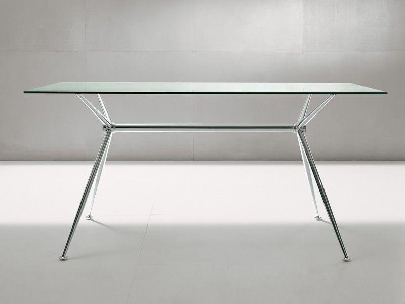 brioso table fixe midj en m tal plateau en verre en diff rentes dimensions sediarreda. Black Bedroom Furniture Sets. Home Design Ideas