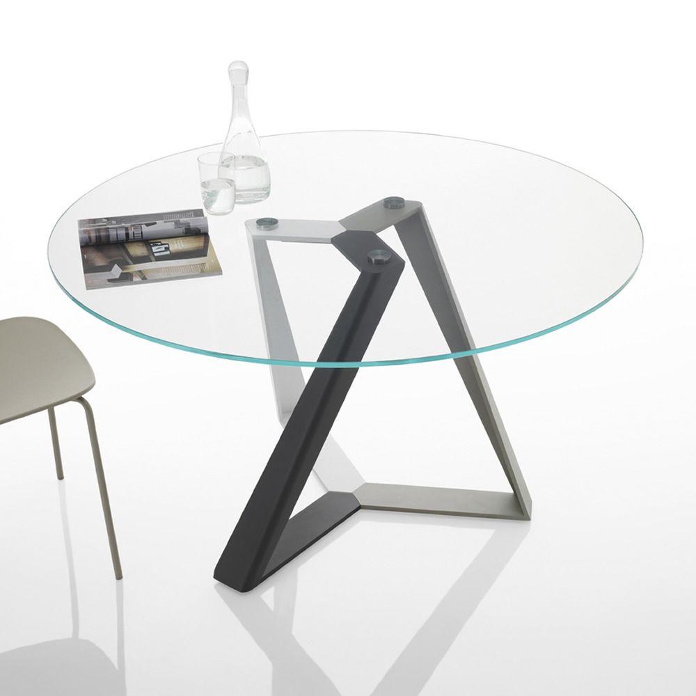 Tavoli Rotondi Cristallo Design.Tavolo Rotondo Design Showroomdelserramento