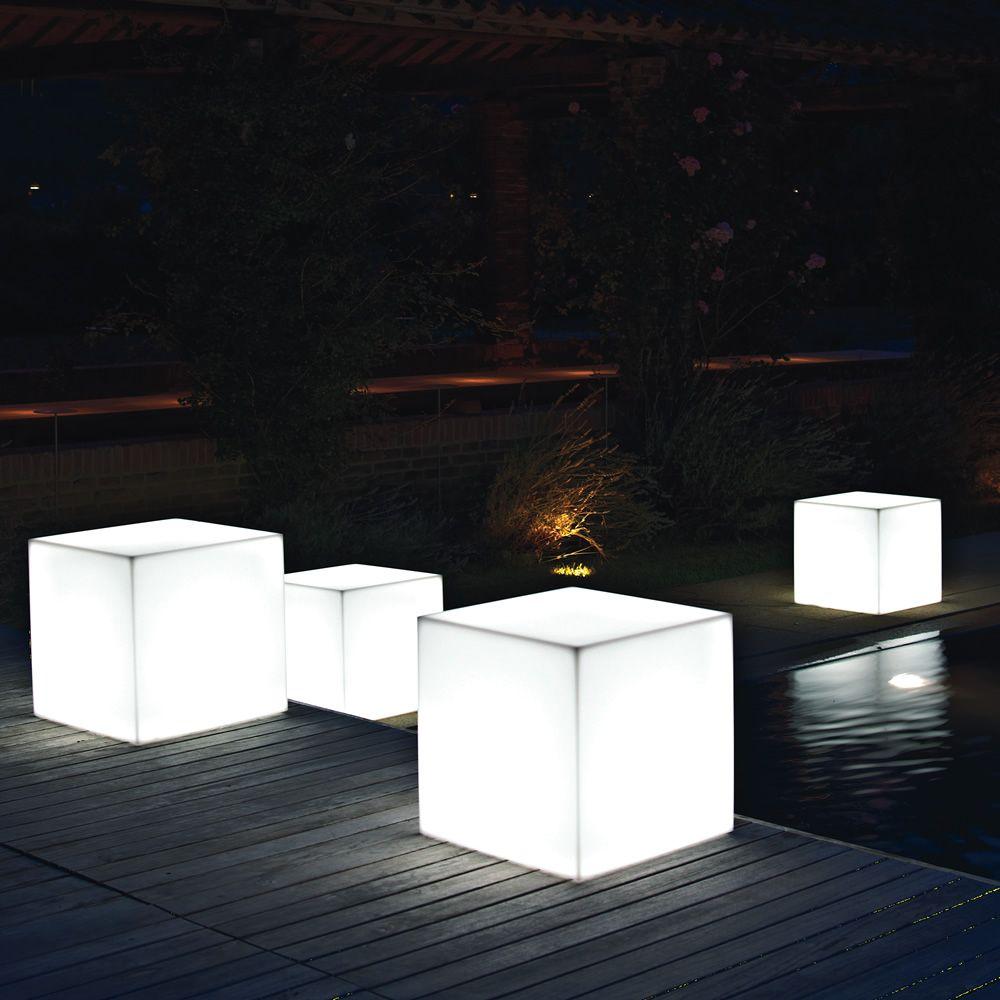 Pouf star light pouf in resina da esterno con luce - Resina da esterno ...