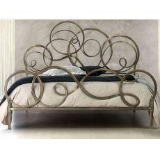 Azzurra - Letto matrimoniale in ferro battuto, disponibile in diverse finiture