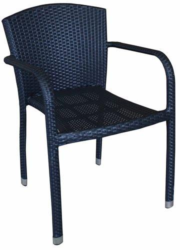 arc175 chaise avec accoudoirs en aluminium et simili rotin pour ext rieur empilable sediarreda. Black Bedroom Furniture Sets. Home Design Ideas