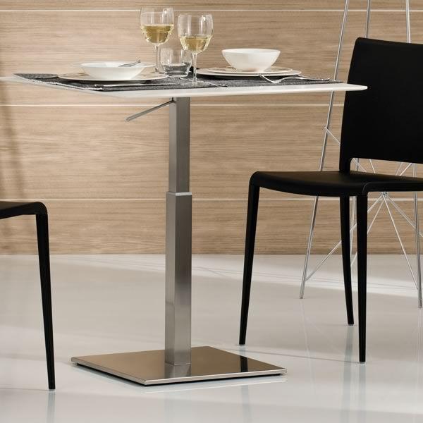 Inox 4402h per bar e ristoranti basamento in metallo per for Tavolo 40x40