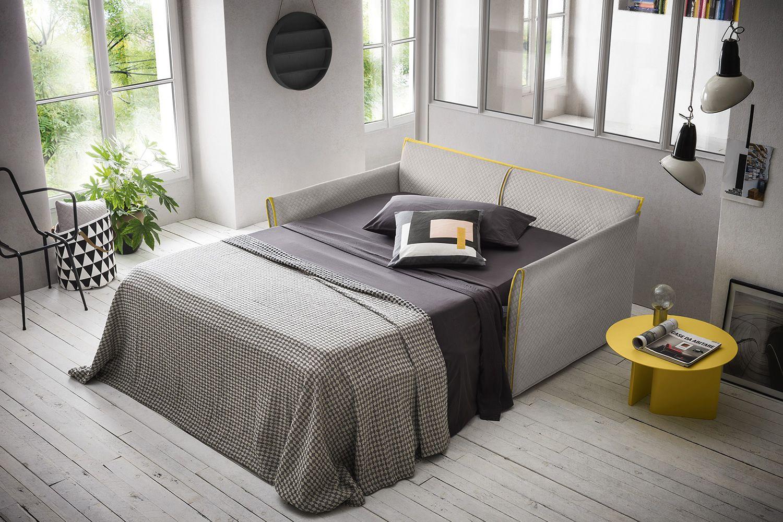 Jolly divano letto a 3 posti completamente sfoderabile for Divano letto misure