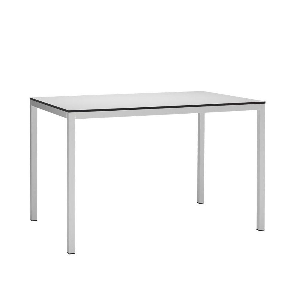 Mirto 2421 tavolo fisso in metallo con piano in for Misure tavolo