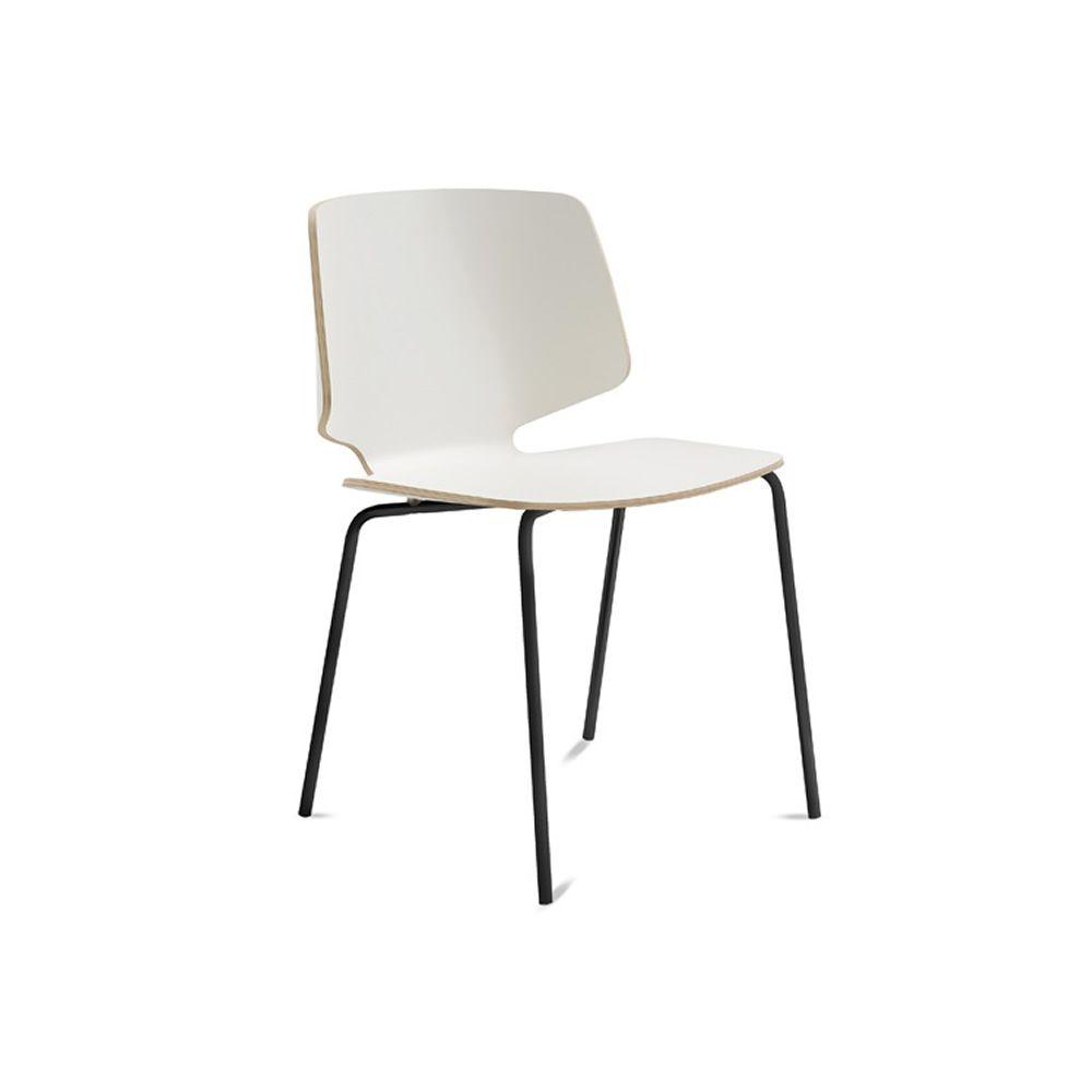 fly b chaise domitalia en m tal assise en lamin ou en contreplaqu sediarreda. Black Bedroom Furniture Sets. Home Design Ideas